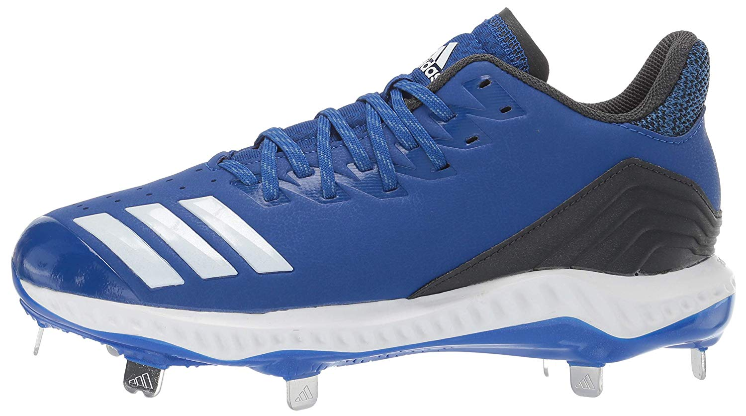 Adidas Womens CG5188 Leather Low Top Lace Up Baseball Shoes US