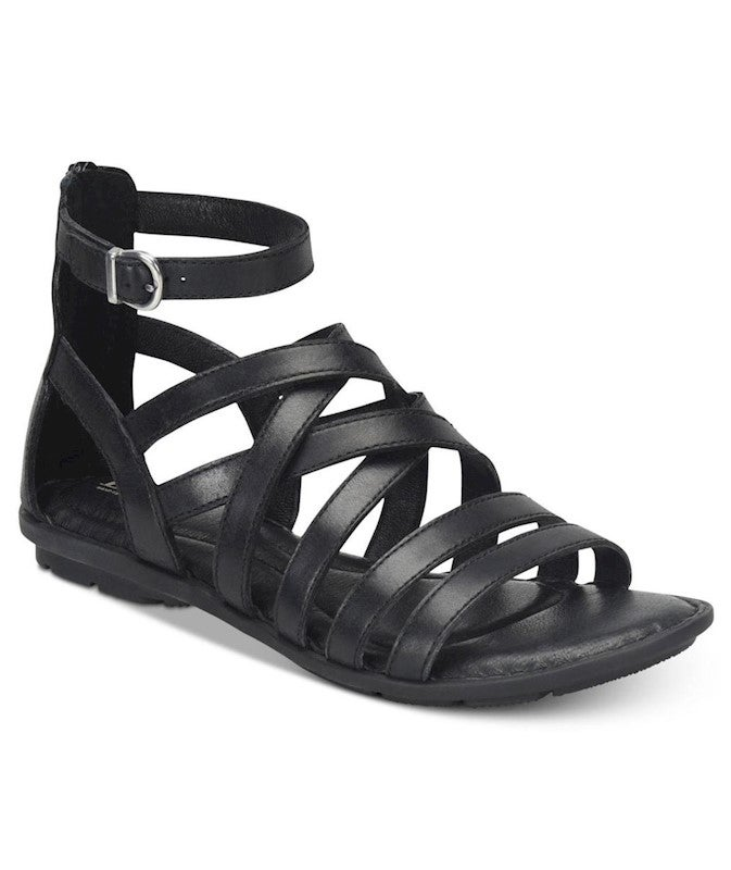 Born Womens Giverny Leather Open Toe Casual Gladiator Sandals US