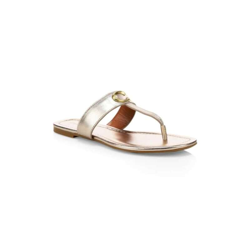 Coach Womens Jessie Leather Open Toe Casual US