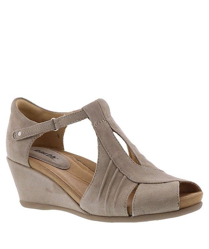 Earth Womens Primrose Leather Peep Toe Casual Platform Sandals US