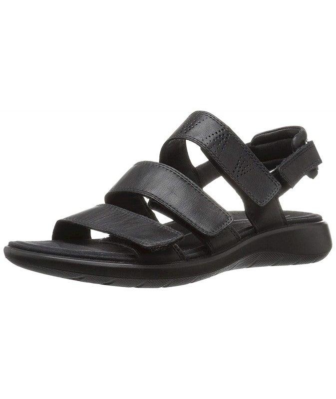 ECCO Women's Soft 5 3 Strap Flat Sandal US