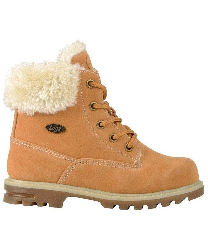 LUGZ Big Girls' 6 in. Grade School Empire Hi Fur Boots