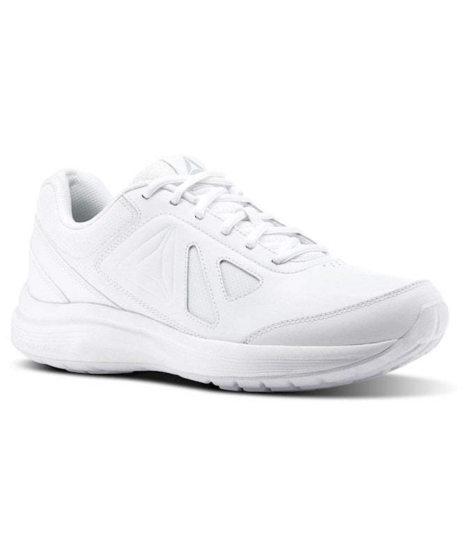 Reebok Mens walk ultra 6 dmx max Leather Low Top Lace Up Fashion Sneakers US