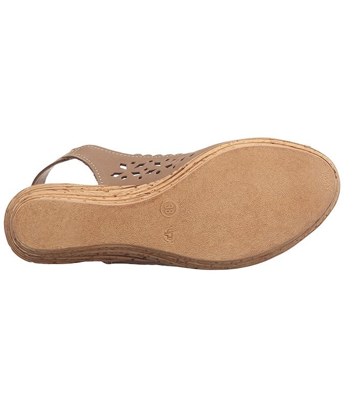 Spring Step Womens Chaya Peep Toe Casual Platform Sandals US