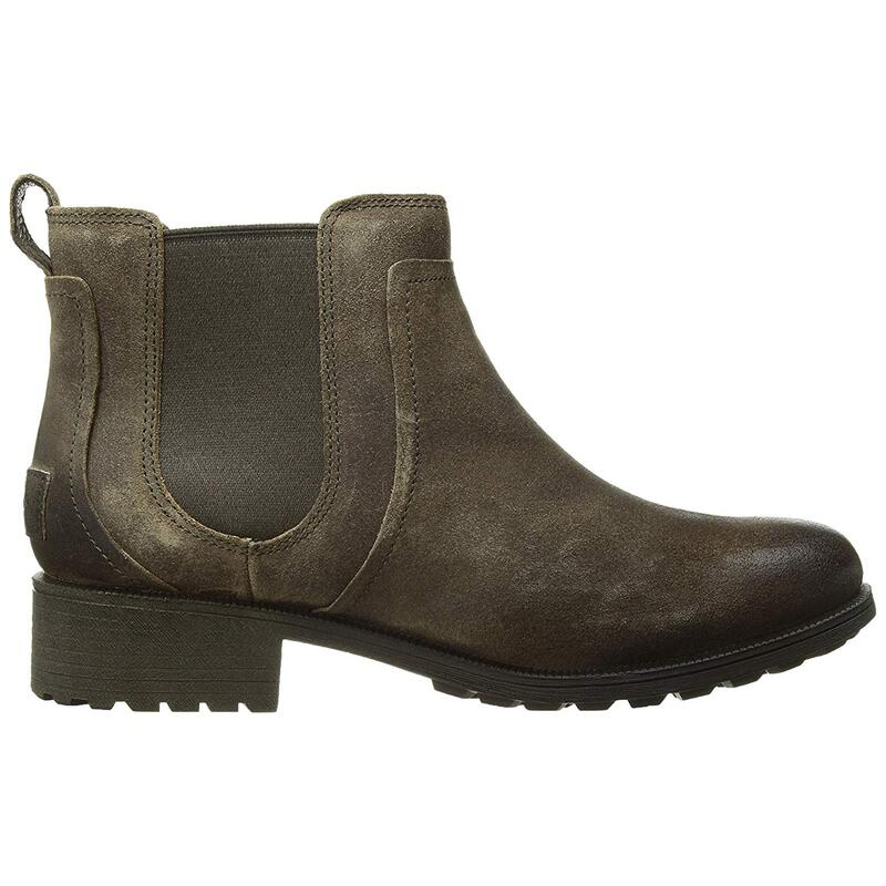 Women's UGG Grey Bonham Leather Ankle Boots 6