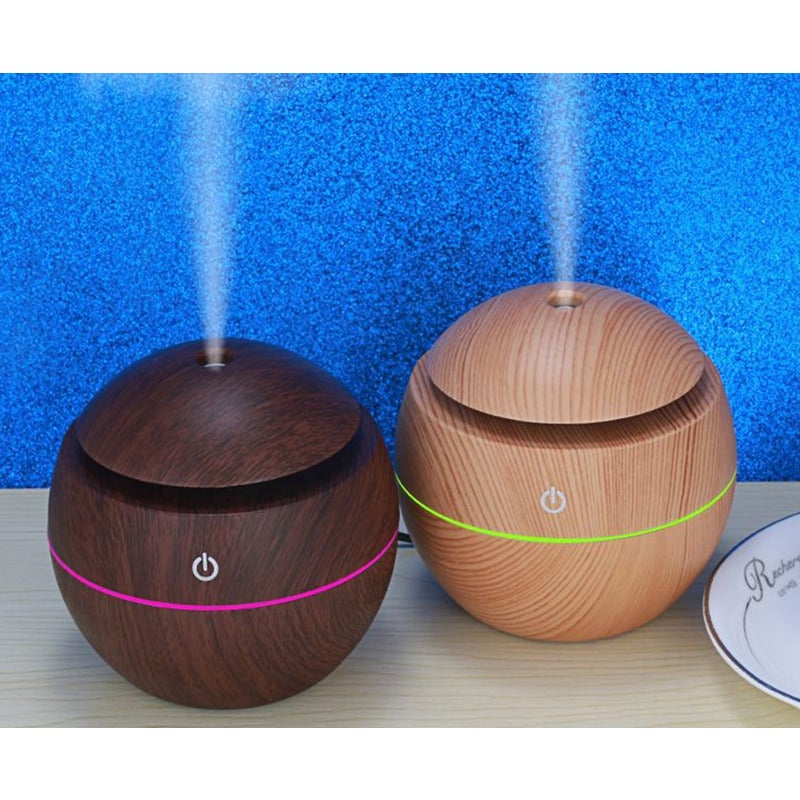 Air Purifier Usb Atomizing Humidifier Spherical Ball Household Wood Grain Air Purifier Can Be Used In The Car Light Buy Humidifiers 840079182968