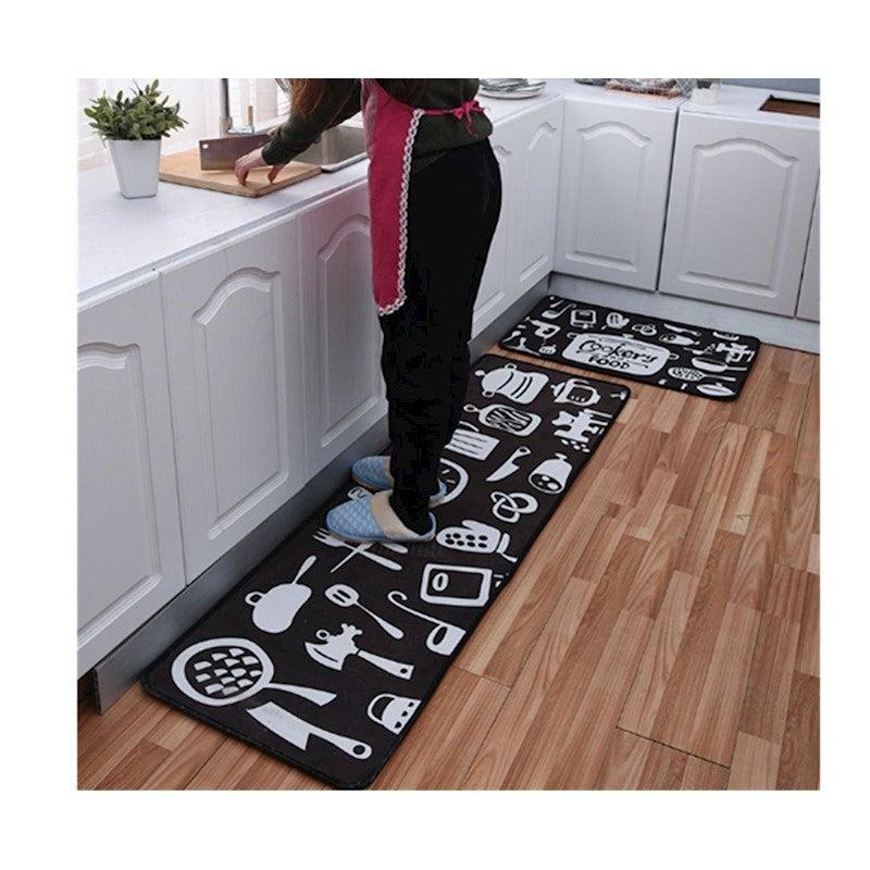 Non Slip Kitchen Floor Mat Doormat Runner Rug Set   2 ...