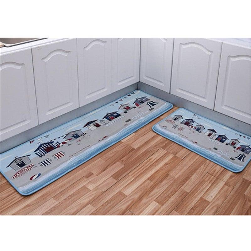 non-slip kitchen floor mat doormat runner rug set - 8