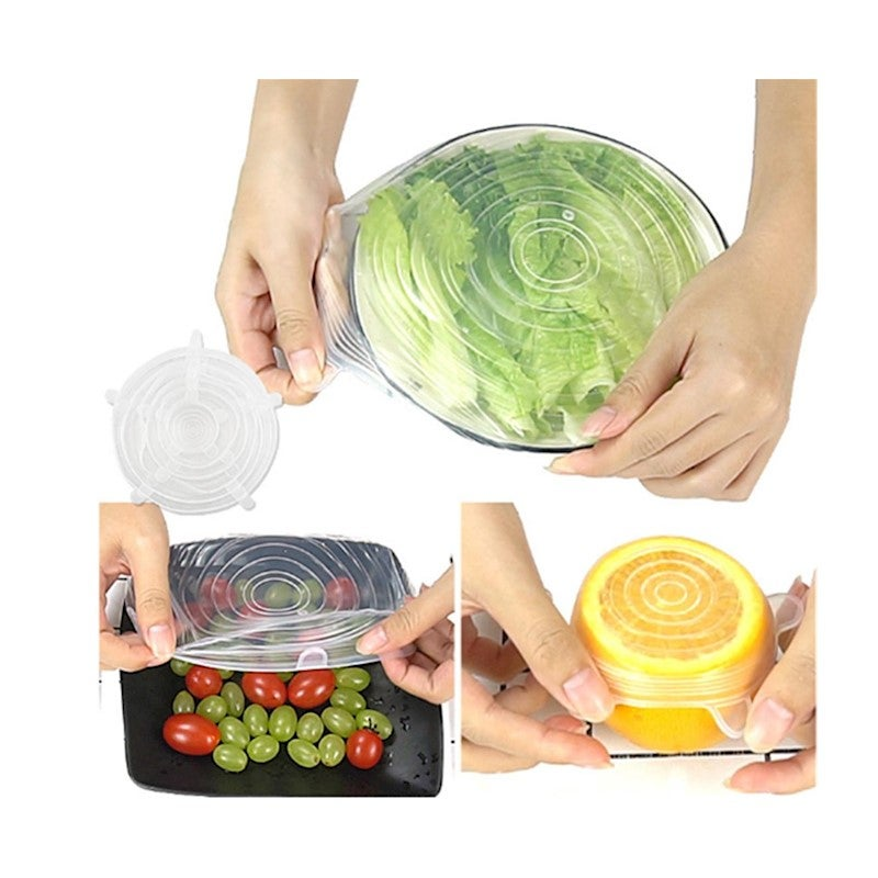 3 CAN COVERS Food Lids Reusable Tin Covers Soup Beans Reusable Fresh UK