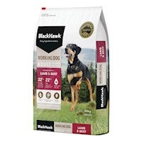Black Hawk Holistic Working Dog Food Lamb & Beef 20kg Australian Made Premium