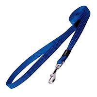 Rogz Utility Snake Fixed Dog Lead For Medium Dogs Dark Blue Reflective Safety
