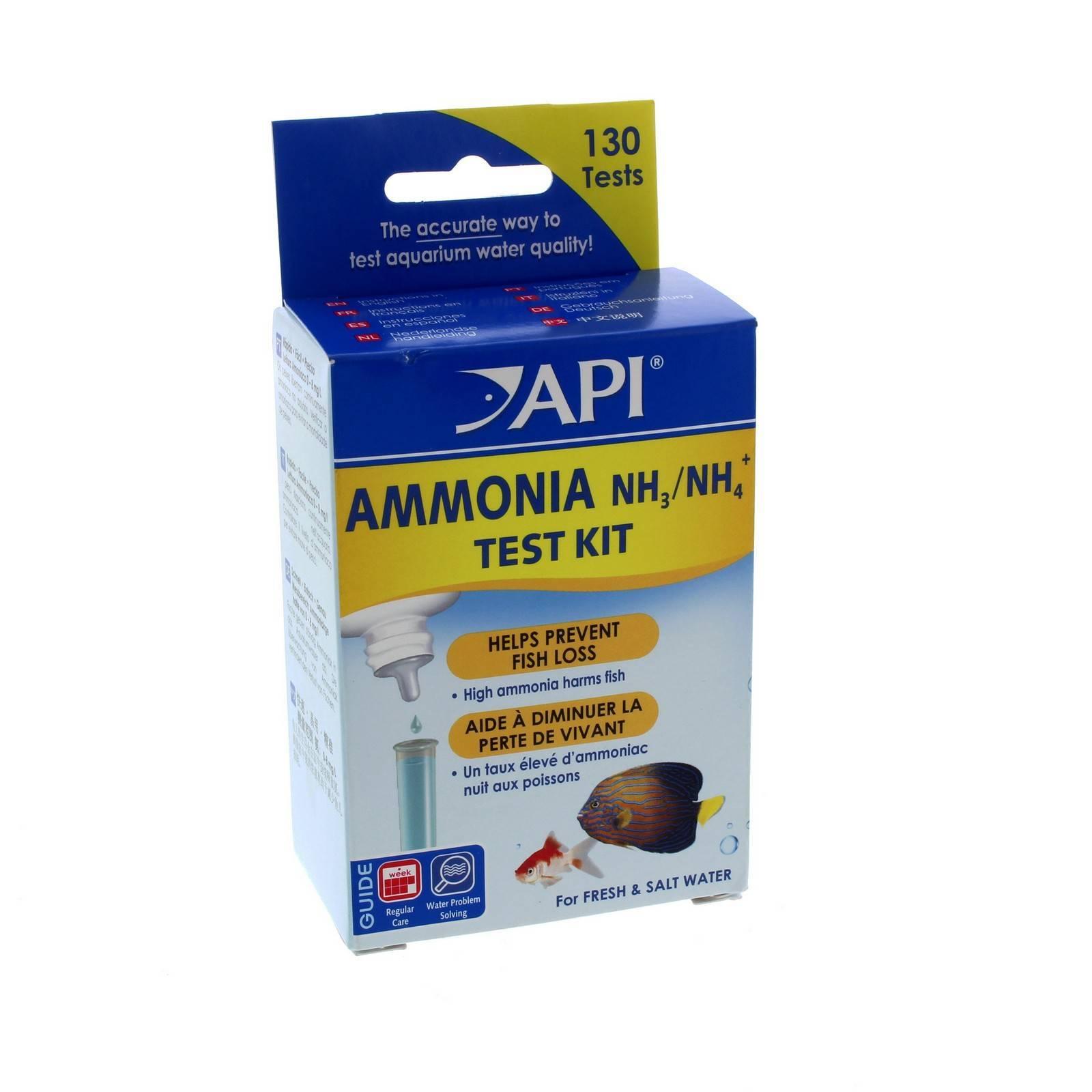 API Ammonia Test Kit NH3 NH4 Aquarium Fresh and Saltwater ...