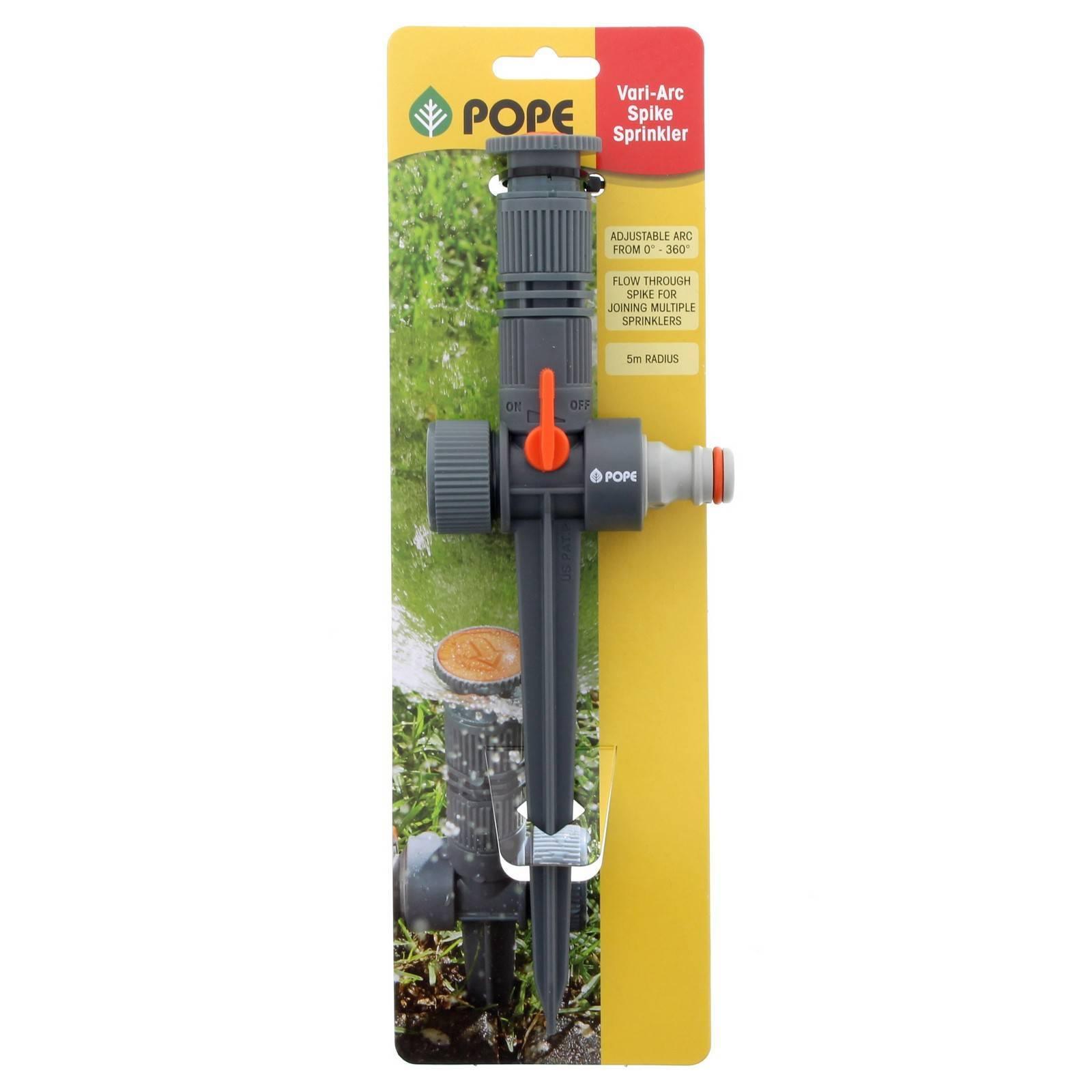 Vari-Arc Sprinkler Garden Watering Pope Flow Through Spike Add More Sprinklers