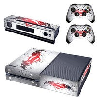 REYTID Console Skin / Sticker + 2 x Controller Decals & Kinect Wrap Compatible with Microsoft Xbox One - Full Set - Superman White/Red