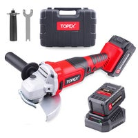 TOPEX 20V 125mm Cordless Angle Grinder 3.0Ah w/ Battery Charger Cutting Discs