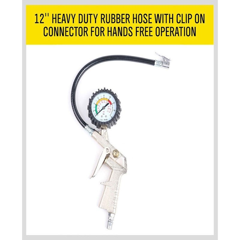 Air Tyre Inflator Pressure Meter Tire Pump Gauge Compressor Tools Car Truck