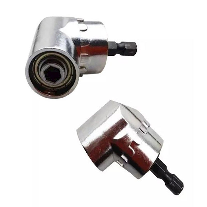 """Right Angle Drill Adapter Attachment Impact Driver Extension Hex Bit Bend 1//4/"""""""
