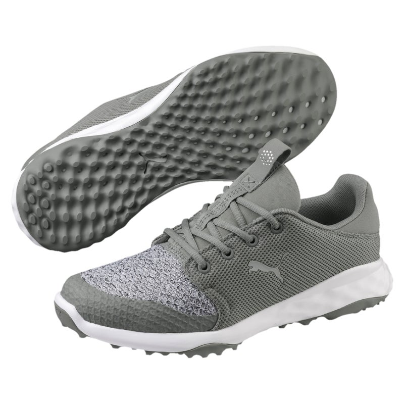 Puma Grip Fusion Sport Golf Shoes LimestoneGrey Violet