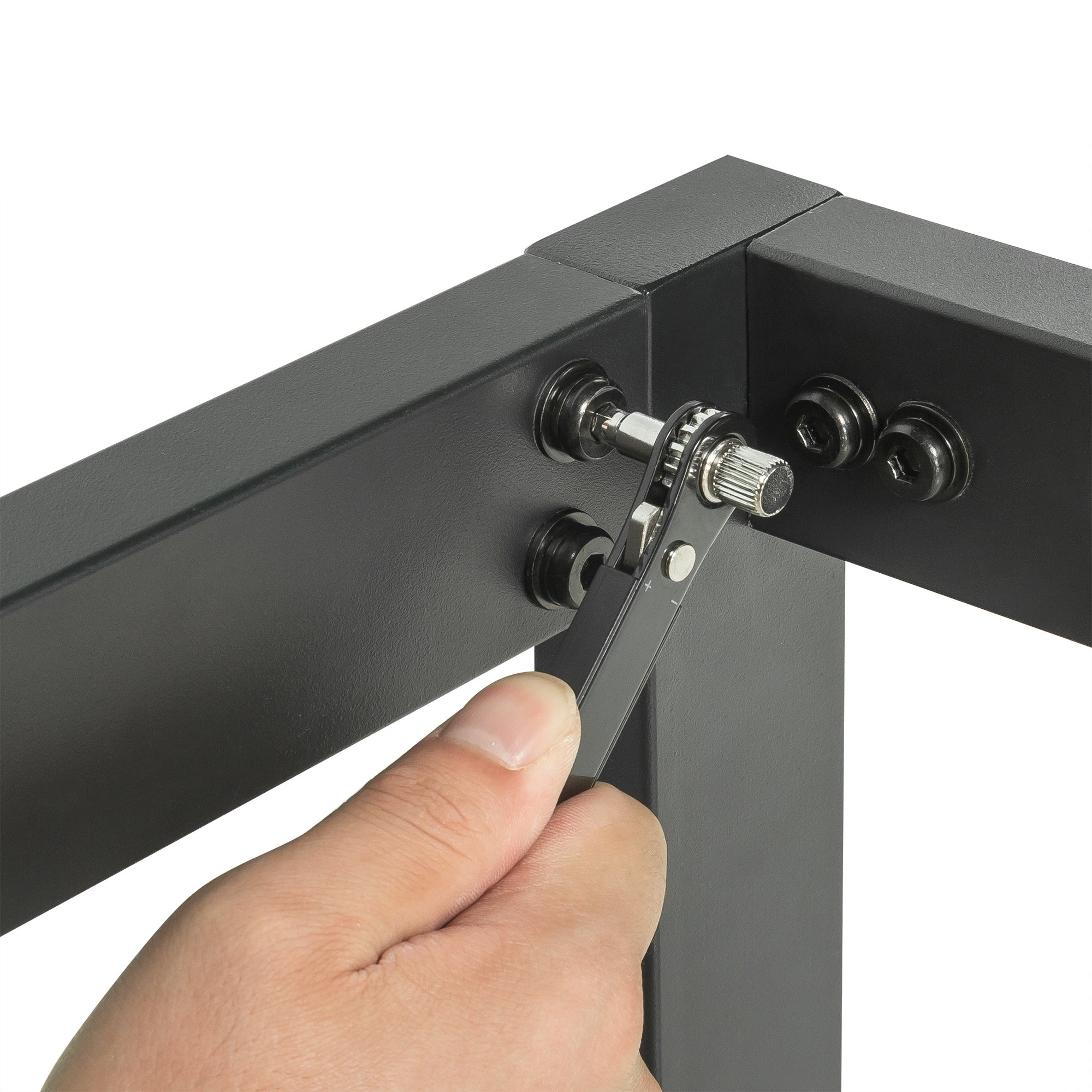 Zinus Suzanne 15cm Industrial Platform Low Bed Base Steel