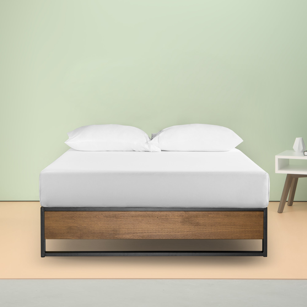 Zinus Suzanne 35cm Industrial Platform Bed Base Steel
