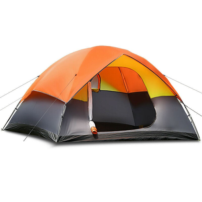 6 Person Family Camping Tent Hiking Beach Canvas Swag Dome ...