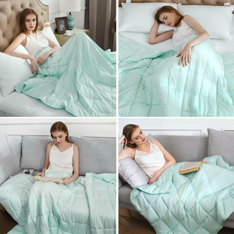 Brand New 9.1KG Cool Feeling Weighted Blanket Heavy Gravity Relax ...