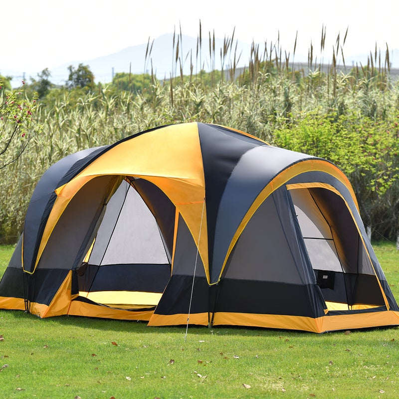 8 Person Family Camping Tent Canvas Dome Swag Waterproof ...