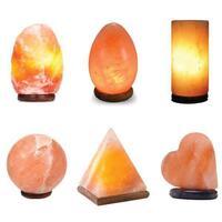 USB Himalayan Pink Rock Salt Lamp - Carved Shape Rocks Light Bulb Decor Lamps