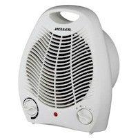 2000W Low Profile Fan Heater Adjustable Thermostat Floor Table Desk Caravan