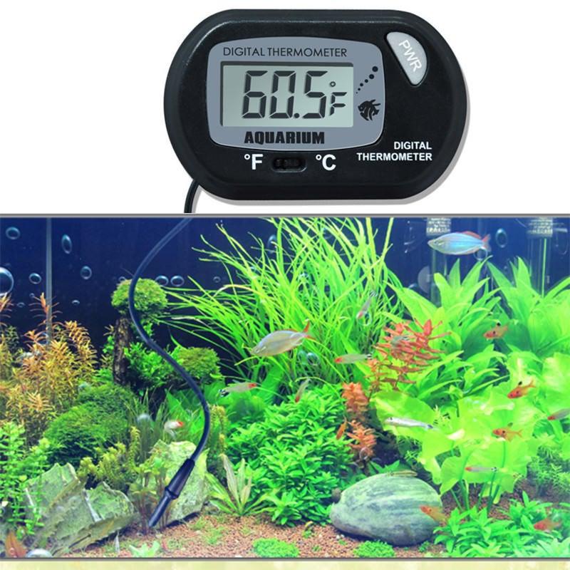 Digital Thermometer LCD Aquarium Fish Tank Marine ...