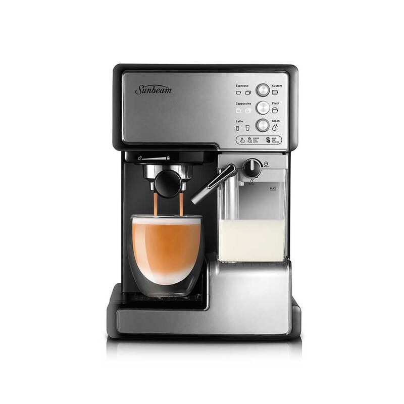 Sunbeam EM5000 Café Barista Coffee Machine Stainless Steel ...