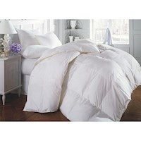 50/50 White Goose Down & Feather Quilt