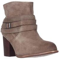 Splendid Laventa Strapped Ankle Boots, Latte Suede