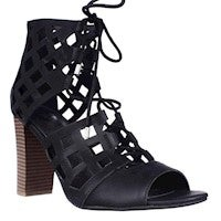 G by GUESS Iniko Lace Up Caged Sandals, Black