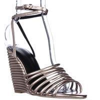 Rebecca Minkoff Savannah Strappy Ankle Wedge Sandals, Rose Gold
