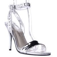 Caparros Cassidy Jeweled Ankle Strap Dres Sandals, Silver Metallic