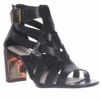Pour La Victoire Pandora Ankle Strap Strappy Sandals, Black