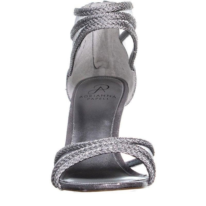 Adrianna Papell Adler Braided Strappy Sandals, Silver Metallic