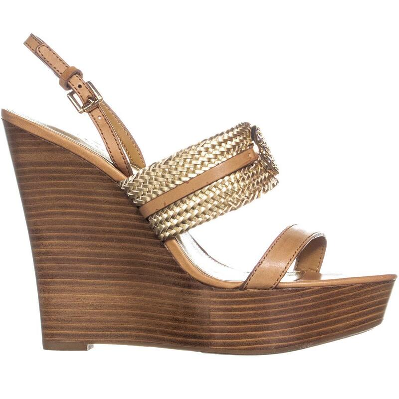 Coach Beatriz Ankle Strap Sandals, GingerGold