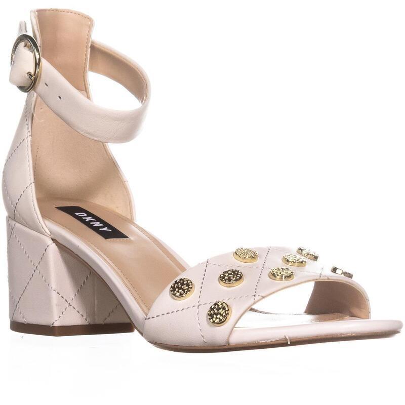 DKNY Henli Ankle Strap Block Heel Sandals, BlackBlack