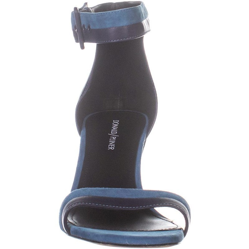 Donald J Pliner Watson Ankle Strap Block Heel Sandals, NavyBlue