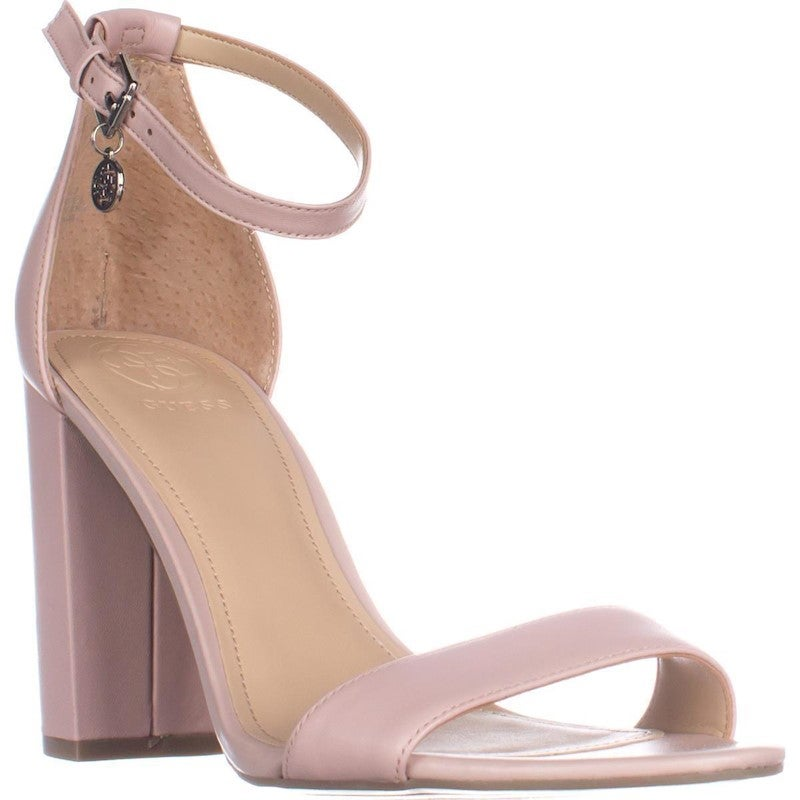 Guess Bamboo Ankle Strap Heeled Sandals, Light Pink