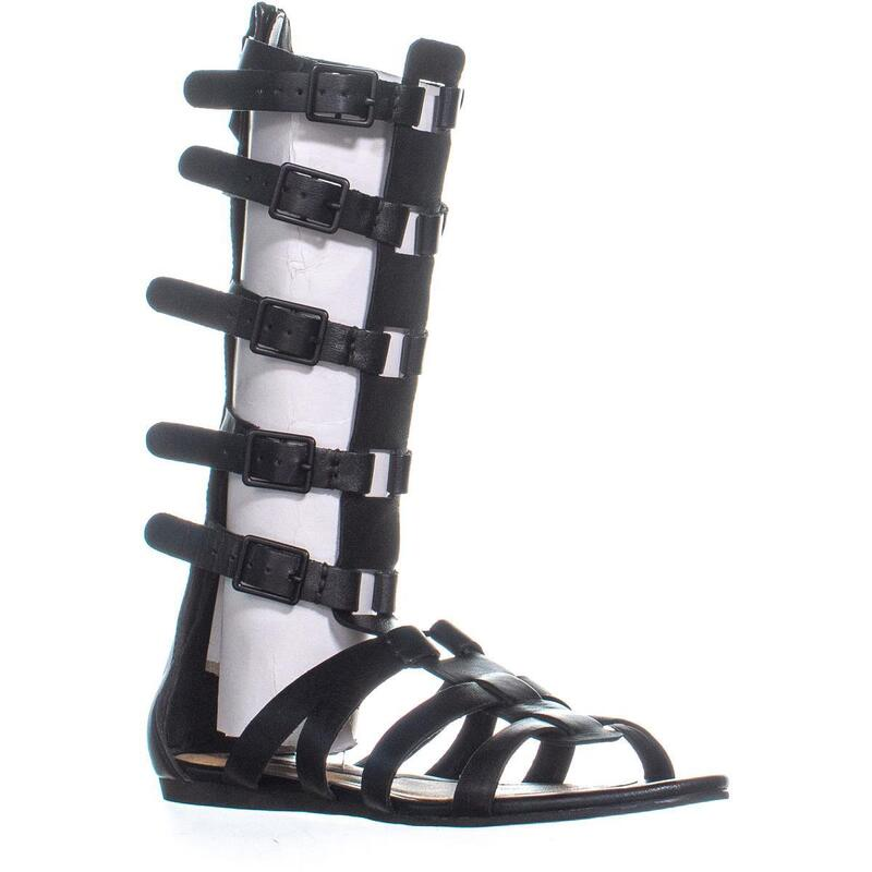 Kensie Stellar Gladiator Sandals, Black