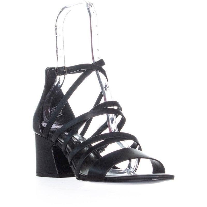 Nine West Youlo Ankle Strap Block Heel Sandals, Black