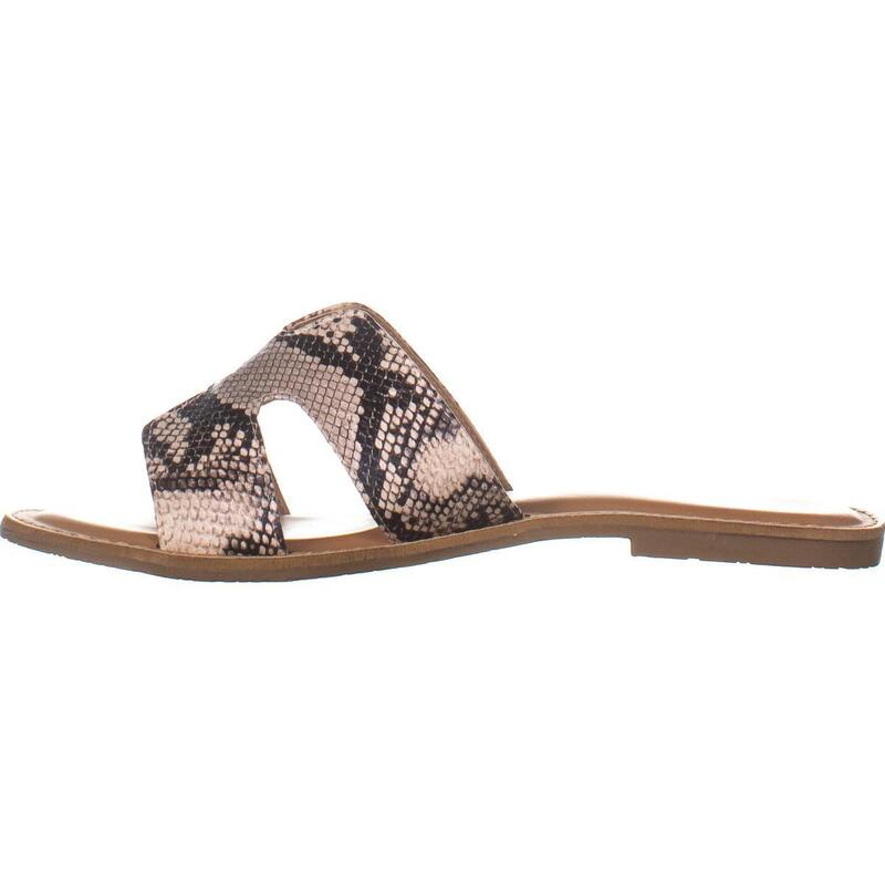 Rock & Candy Bindy Flat Slide Sandals, BlackBeige