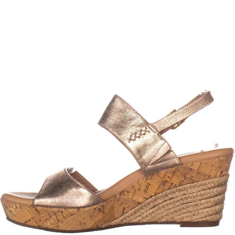 UGG Australia Elena Comfort Wedge Sandals, Metallic