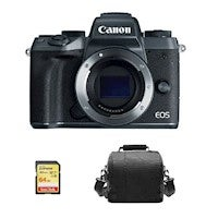 CANON EOS M5 BODY + Sandisk 64GB SD Memory card + Camera Photography & Accessory Storage Shoulder Bag