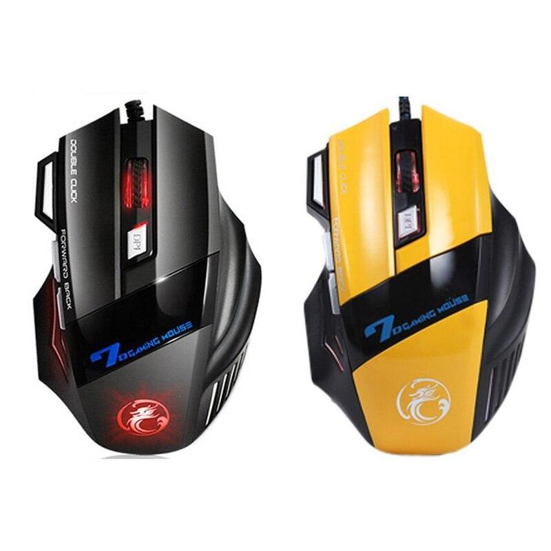 Lotus Head Wired Scroll Wheel Gaming Mouse Mice for Laptop PC Desktop Ergonomic