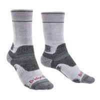 SILVER/GREY SM Bridgedale Hike Midweight Performance Womens Sock