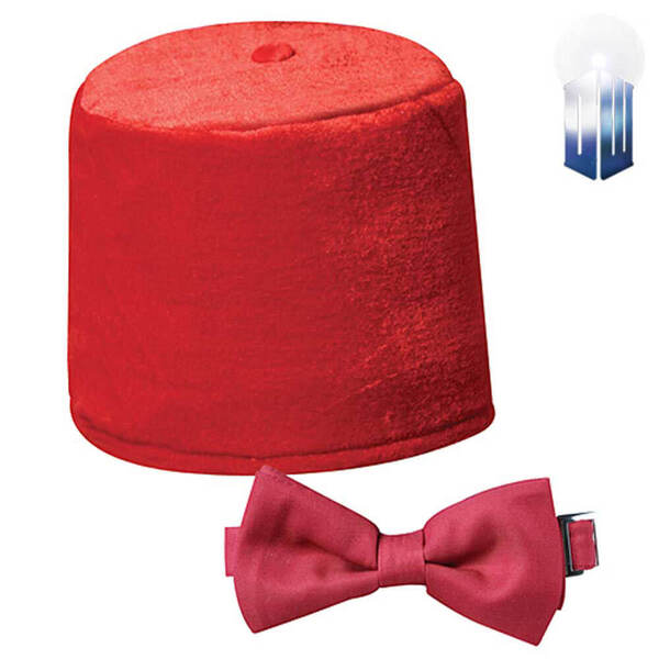 Doctor Who Fez and Bowtie Costume Kit